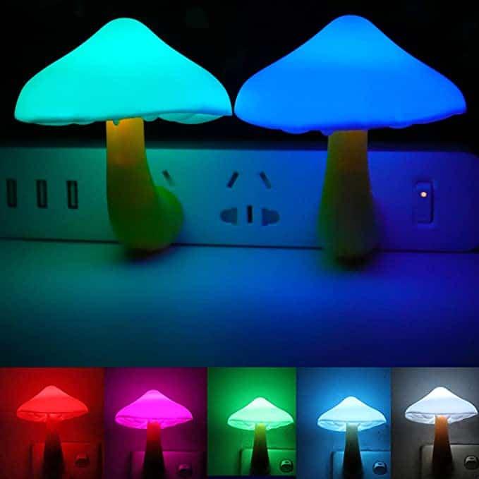 Cute Mushroom Light Sensor Night Lights