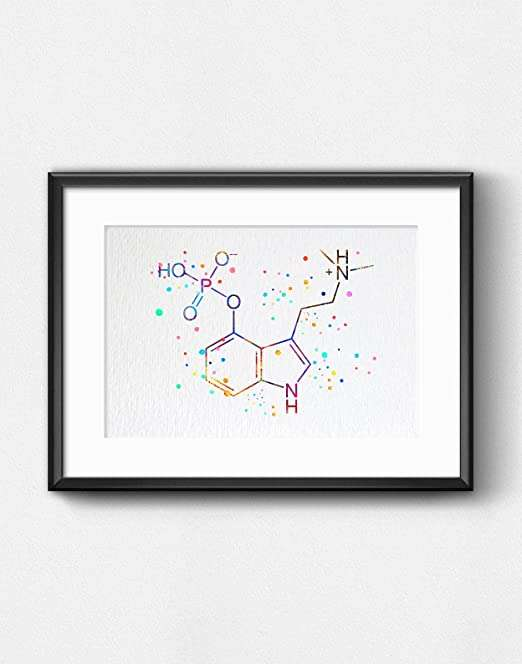 poster of the chemical structure of psilocybin