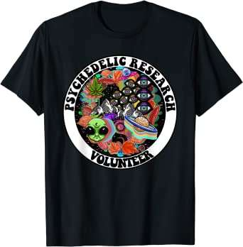 psychedelic research volunteer t-shirt from amazon